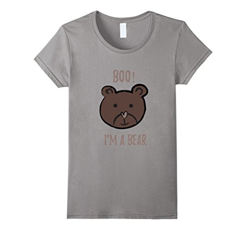 Womens Boo! I'm a bear Halloween costume T- shirt Large (Boo Boo Bear Costume)