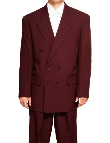 Ron Burgundy Suit (New Double Breasted (DB) Burgundy / Maroon Men's Business Dress Suit)