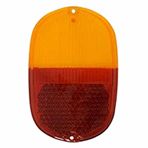 Tail Light Lens Only, VW Type-2 Bus, 1962-1971, Amber/Red, Each - EMPI 98-8617-B