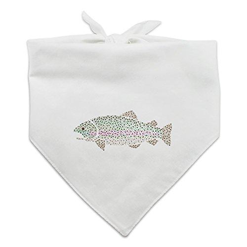 (Graphics and More Rainbow Trout Fish Dots Spots Pattern Dog Pet Bandana - White )