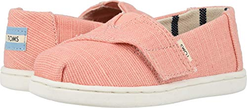 TOMS Kids Baby Girl's Alpargata (Toddler/Little Kid) Coral Pink Heritage Canvas 4 M US Toddler