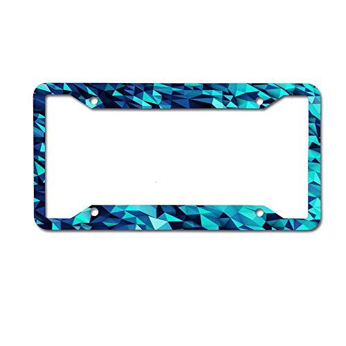 - Puyrtdfs Blue Diamond Funny License Plate Frame Unique Design Vanity License Plate, Metal Car License Plate 4 Holes