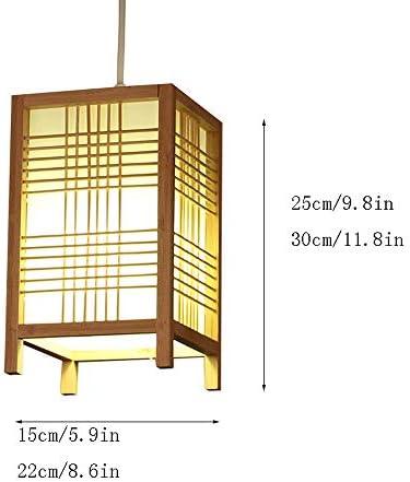 TXOZ E27 lámpara de bambú tatami armadura de la rota luz colgante de la lámpara pendiente de la lámpara por nórdico Cocina Habitación Sala Restaurante Hotel Fixture 25 / 35cm (Size :