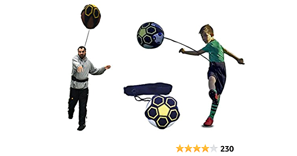 Kickthrow Soccer Football Kick Throw Trainer Solo Practice Training Aid Control Skills Adjustable Waist Belt Sports Outdoors Amazon Com