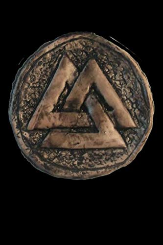 Horn Pendant Celtic Horn - Valknut Amulet: Blank Lined Notebook, Journal or Diary