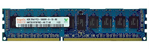 Hynix 4GB DDR3 SDRAM PC3-10600 1333MHz ECC Registered 240-pin DIMM Memory HMT351R7BFR8C-H9 by Hynix