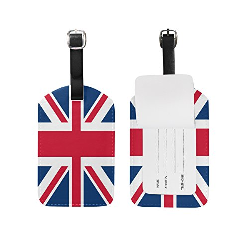 - Use4 British Flag Union Jack Luggage Tags Travel ID Bag Tag for Suitcase 1 Piece