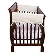 Trend Lab Waterproof CribWrap Rail Cover - For Wide Side Crib Rails Made to Fit Rails up to 18  Around, 2PK