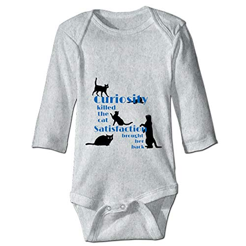 Curiosity Killed The Cat Baby Infant Boys Girls Fun Print Bodysuit ()