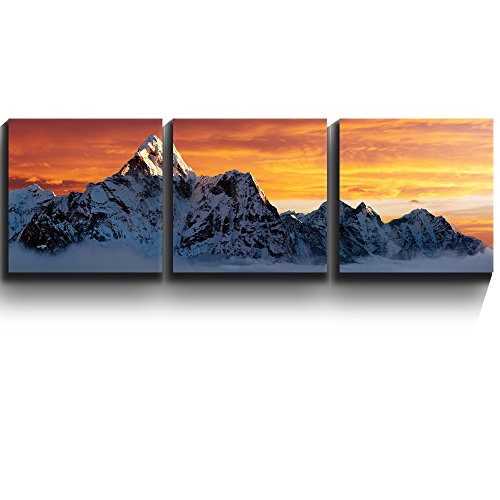 3 Square Panels Contemporary Art Ama Dablam on the way to Everest Three Gallery ped Printed Piece x3 Panels