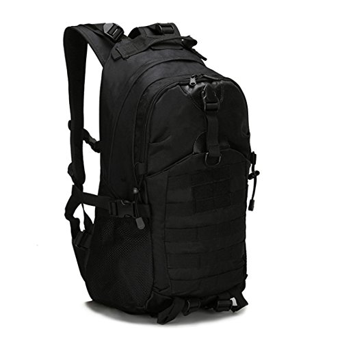Military Tactical Backpack Waterproof 1000D Oxford Men's Women Camouflage Molle Bag Outdoor Hiking Camping Backpack 511 Rucksack black 30 - 40L