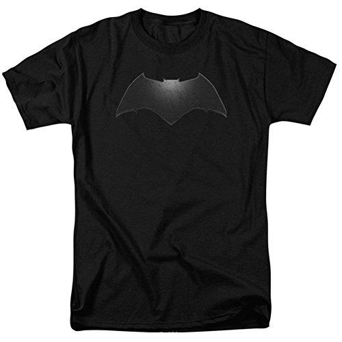 Trevco Batman v Superman Beveled Bat Logo Black Unisex Adult T Shirt For Men and Women