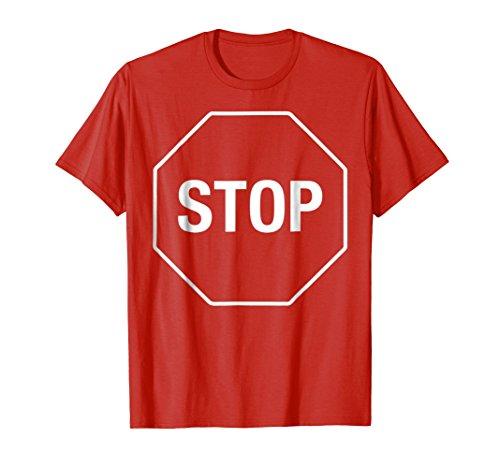 Halloween Costume Shirt Stop Sign Funny -