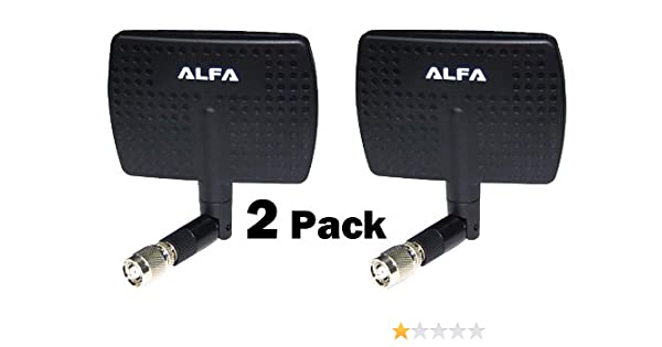Alfa 2.4 GHz 7dBi RP-SMA Panel Screw-On Swivel Antenna for Alfa AWUS models
