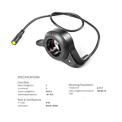 BAFANG Thumb Throttle Speed Control for Electric Scooter