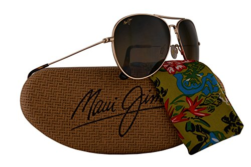 Maui Jim Mavericks Sunglasses Gold w/Polarized Bronze Lens - Wiki Anti Glasses Glare