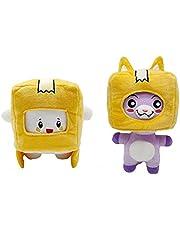 jiuyin Plyschleksaker docka 2 st 19,8 cm – 28,9 cm Lankybox plysch tecknad robot fyllda anime plyschie dockor lekkamrat för barn födelsedagspresenter