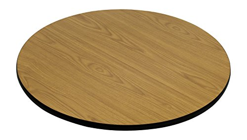 (Flash Furniture 42'' Round Table Top with Natural or Walnut Reversible Laminate Top)