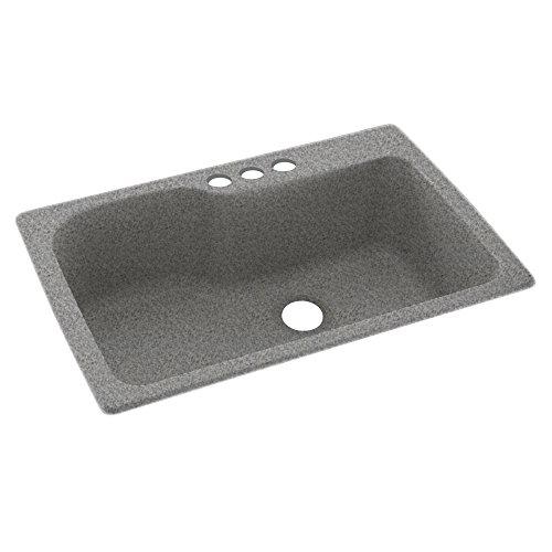 Swaoi #Swanstone KS03322SB.042-3 33-In X 22-In Solid Surface Kitchen Sink 3-Hole, Gray Granite, - Kssb 3322 Kitchen Sink