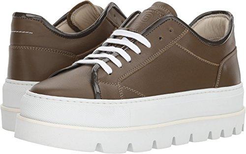 Maison Margiela MM6 Women's Platform Sneaker Military Green/Gray 37 M - Margiela Mm