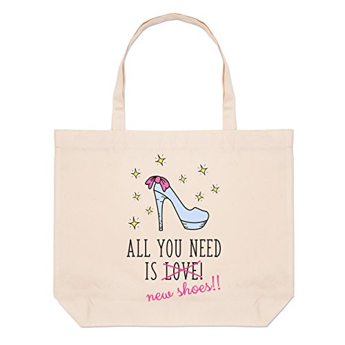 Bag Tote Is New Beach Large Need Shoes Love You All 8fF6zz