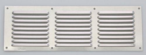 Wetterschutzgitter Lüftungsgitter Aluminium natur 15 x 30 cm mit Fliegendraht
