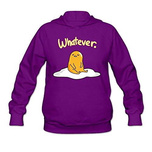 Women's Gudetama Hooded Sweatshirt Purple (Make Your Own Cute Halloween Decorations)