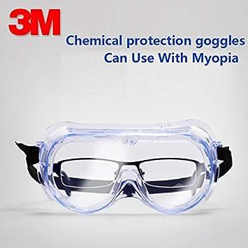 Seguridad Salud Gafas Gafas De Laboratorio Virus Protectores Anti Niebla Gafas Qu/ímicas