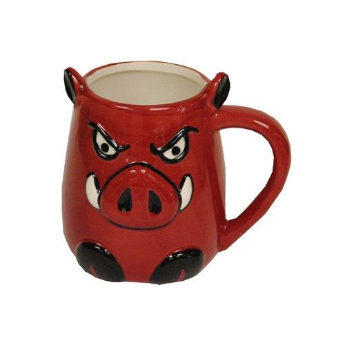 Game Day Outfitters NCAA Arkansas Razorbacks Molded Hog Ceramic Mug, One Size, Multicolor