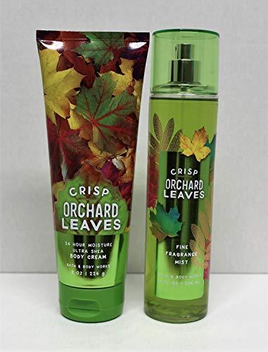 Bath and Body Works Crisp Orchard Leaves Ultra Shea Body Cream and Fine Fragrance Mist 8 Oz