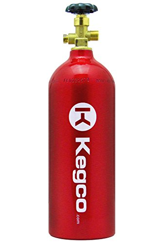 Kegco 5 lb. Aluminum Co2 Tank with Red Finish for Kegerator and Draft Beer Dispensing