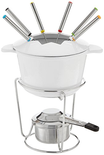 Fondue Pot Set (Cuisinart FP-115WS 13-Piece Cast Iron Fondue Set, White)