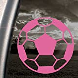 Soccer Ball Pink Decal Car Truck Bumper Window Pink Sticker