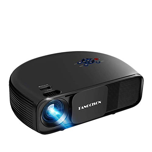 TANGCISON Home Projector, 3300 Lumens LED Video Projector with 150