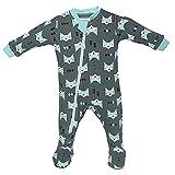 ZippyJamz Organic Baby Footed PJs w/Inseam Zipper