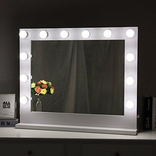 Chende White Hollywood Lighted Makeup Vanity Mirror Light