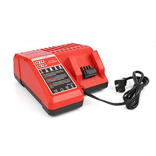 18 volt Lithium-Ion Replacement Battery Charger for Milwaukee M18 48-11-1850 48-11-1852 48-11- 1840 M18 48-11-1828 2763-20 - 20 2620