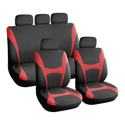 XtremeAuto Universal Full Car Front And Rear Seat Cover Protectors Set -...