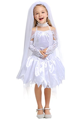 Joygown Girl's Princess Bride Halloween Costume Fancy Dress Up Cosplay L -