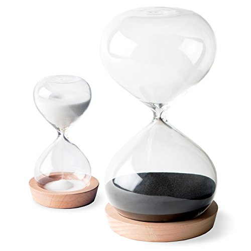 Large Sand Timer - OrgaNice Hourglass Sand Timer - 30 Minute & 5 Minute Timer Set - Improve Productivity & Achieve Goals - Stay Focused & Be More Efficient - Time Management Tool - [Gift-Ready Packaging]
