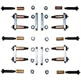 "MORryde UO12-016 Heavy Duty Shackle Upgrade Kit, CRE3000 / Stock / Equaflex 2.25"" Shackles - Tandem Axle"