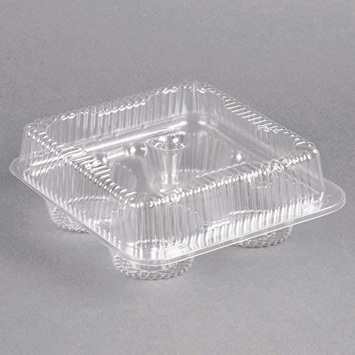 1/3 Dozen Cupcake Container (4 cavities), 25 ct. (4ct Plastic Cupcake Containers)