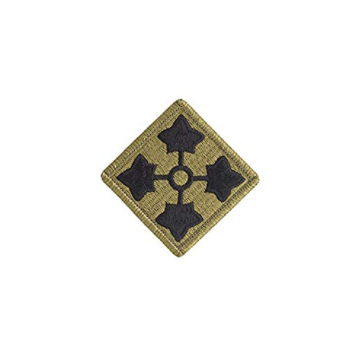 4th Infantry Division OCP Patch with Hook Fastener