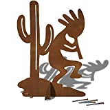 Cold Nose Creations Large 36in High Kokopelli Cactus Silhouette Sturdy Metal Yard Art, Garden Statue, or Lawn Ornament