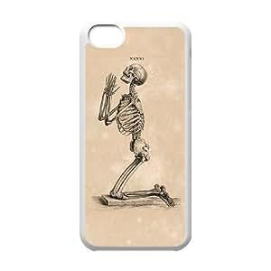 Skull iPhone 5C Case White Yearinspace996968