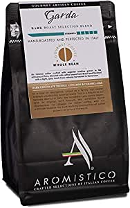 AROMISTICO | Intense Bold DARK ROAST | Premium Italian Coffee | GARDA Selection BLEND | DARK CHOCOLATE TRUFFLE, CINNAMON and CARAMEL-like | Suitable for all coffee makers (WHOLE BEANS)