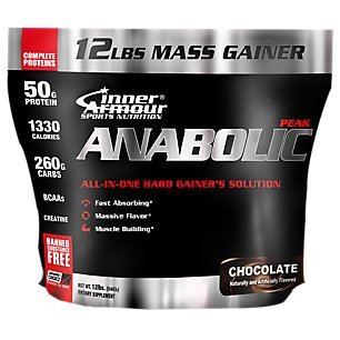 Inner Armour Anabolic-Peak Weight Gainer, Chocolate, 12 Pound