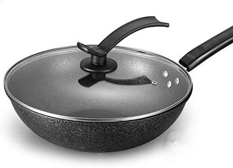 MHRCJ Wok Non-stick Pan No Smoke Cooking Induction Cooker Gas Stove Universal Cookware Induction Pan Ceramic Kiithen Cookware Non