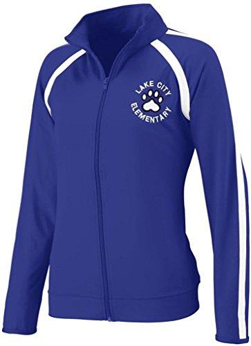 Augusta Sportswear WOMEN'S POLY/SPANDEX JACKET XL Purple/White