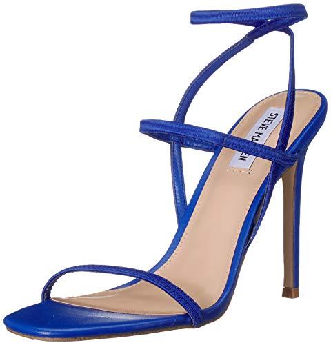 Steve Madden Women's NECTURE Heeled Sandal, Blue, 9 M US ()